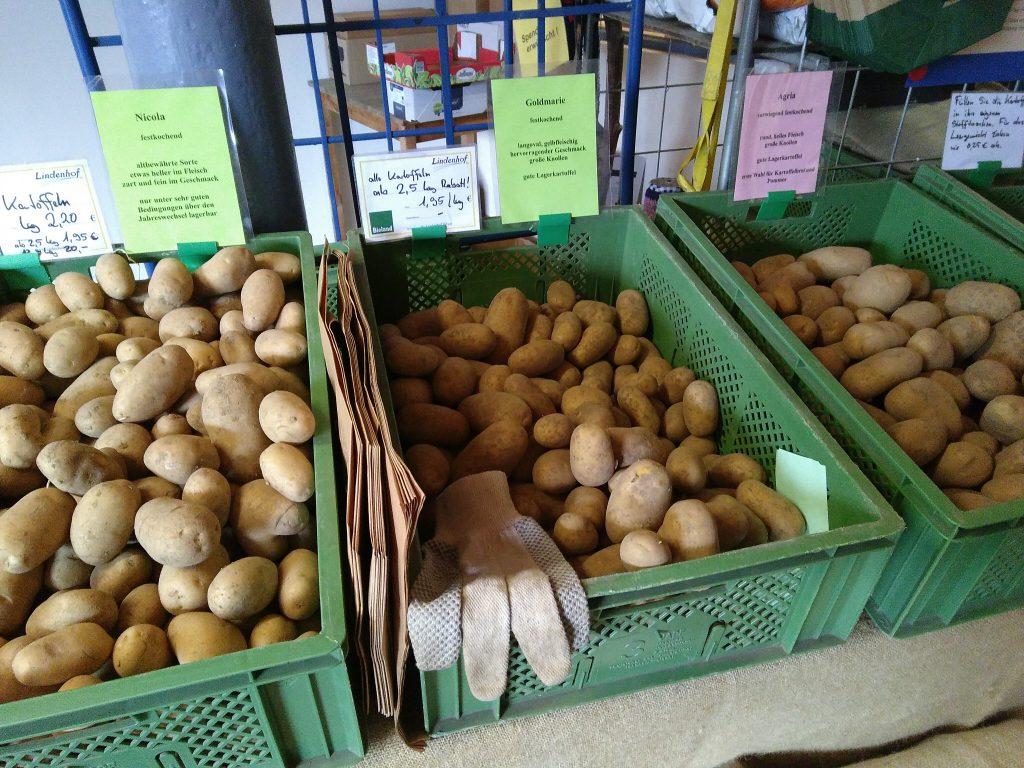 Unsere Kartoffeln im Hofladen